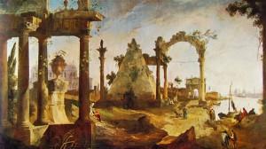 Capriccio con rovine classiche - Canaletto
